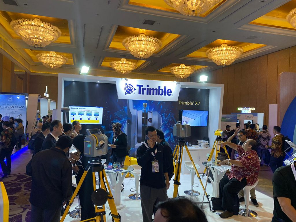 Trimble on show at the Digital Construction Conference in Jakarta in November 2019.