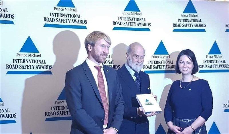 TRL and EU recognised by Prince Michael International Road Safety Awards