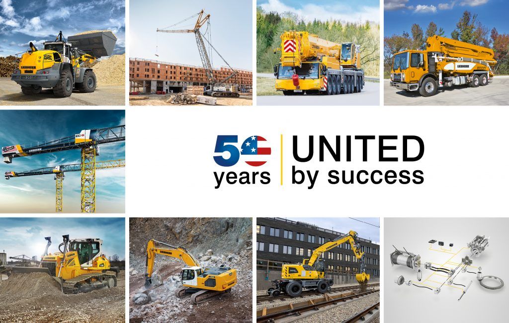 Altogether, Liebherr's products will fill more than 53,000 ft² (4,900 m²).