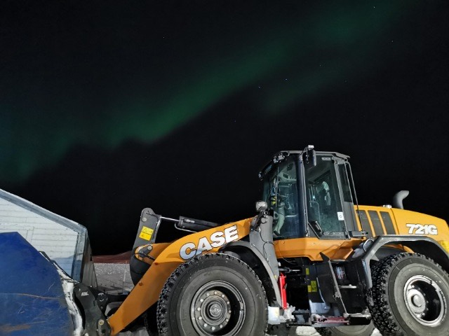 CASE wheel loaders battling the snow in the Arctic Circle