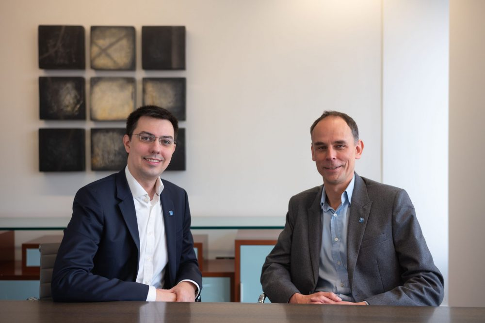 Guy Ranawake, Senior Investment Director at Ingenious, and Dr Jozef Dobos, Founder and CEO of 3D Repo (right to left)