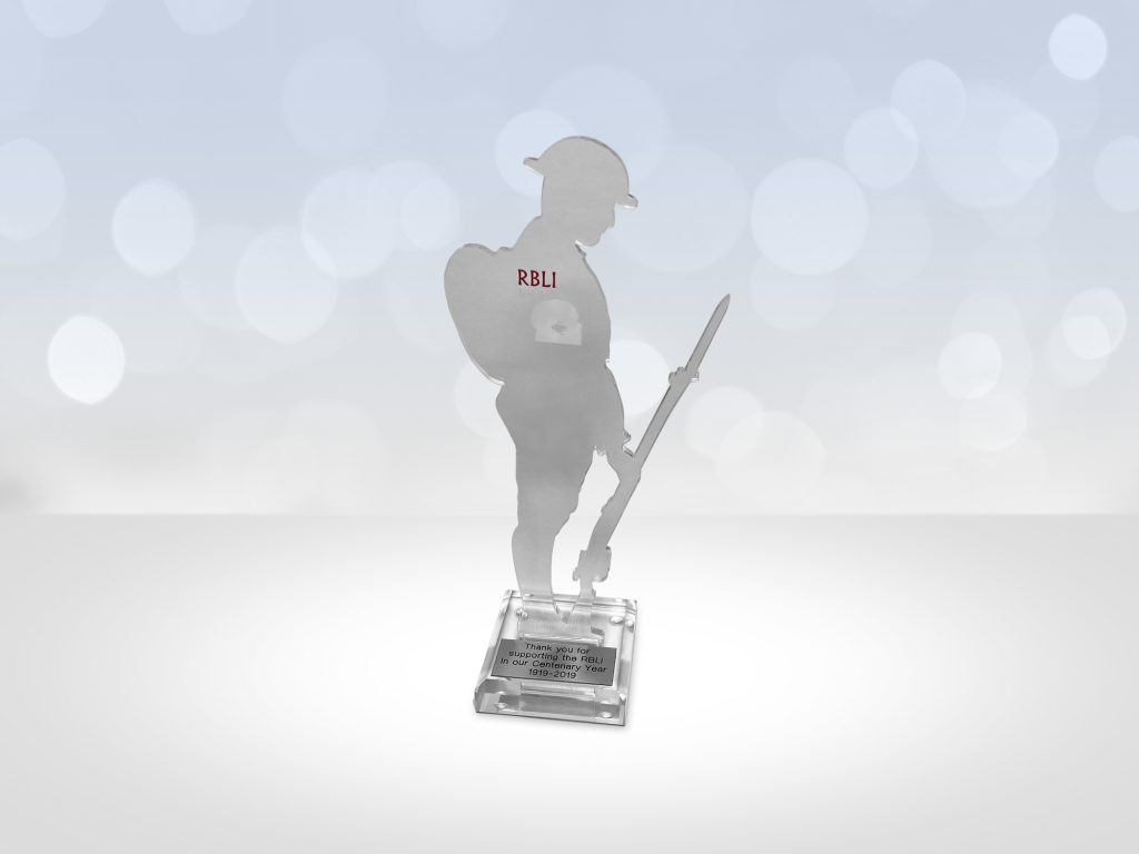 Royal British Legion Industries commemorative centenary award presented to McCann