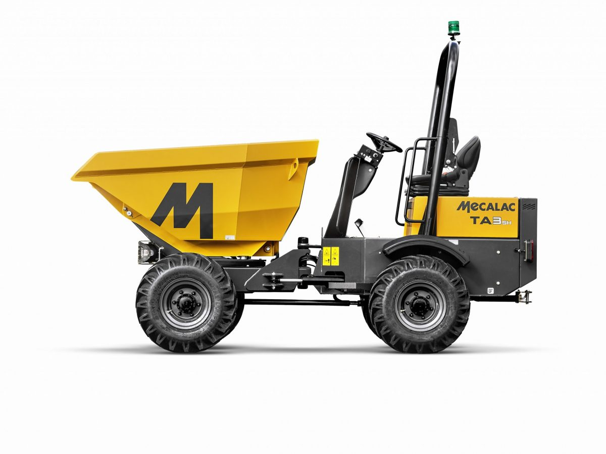 Innovative TA3SH Power Swivel Site Dumper introduced by Mecalac