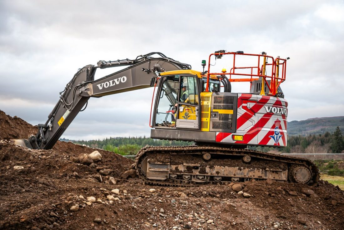Nicol of Skene takes on 3 Volvo reduced swing excavators