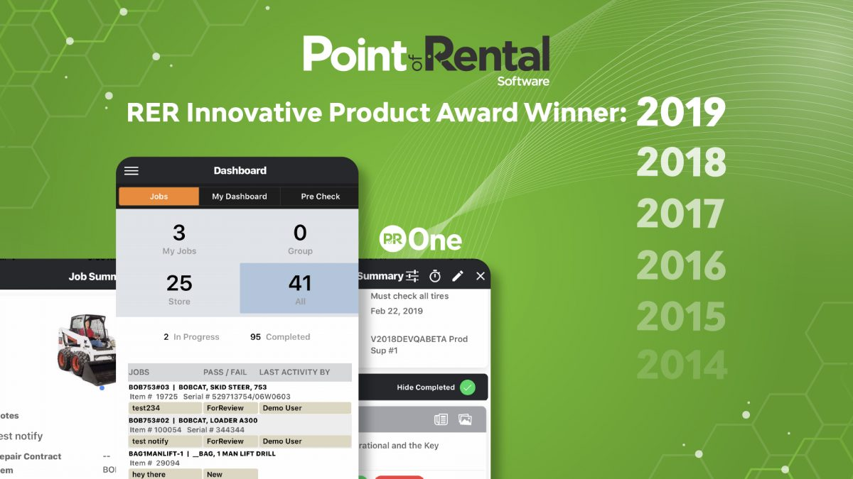 Point of Rental earns 6th Rental Equipment Register Innovation Award