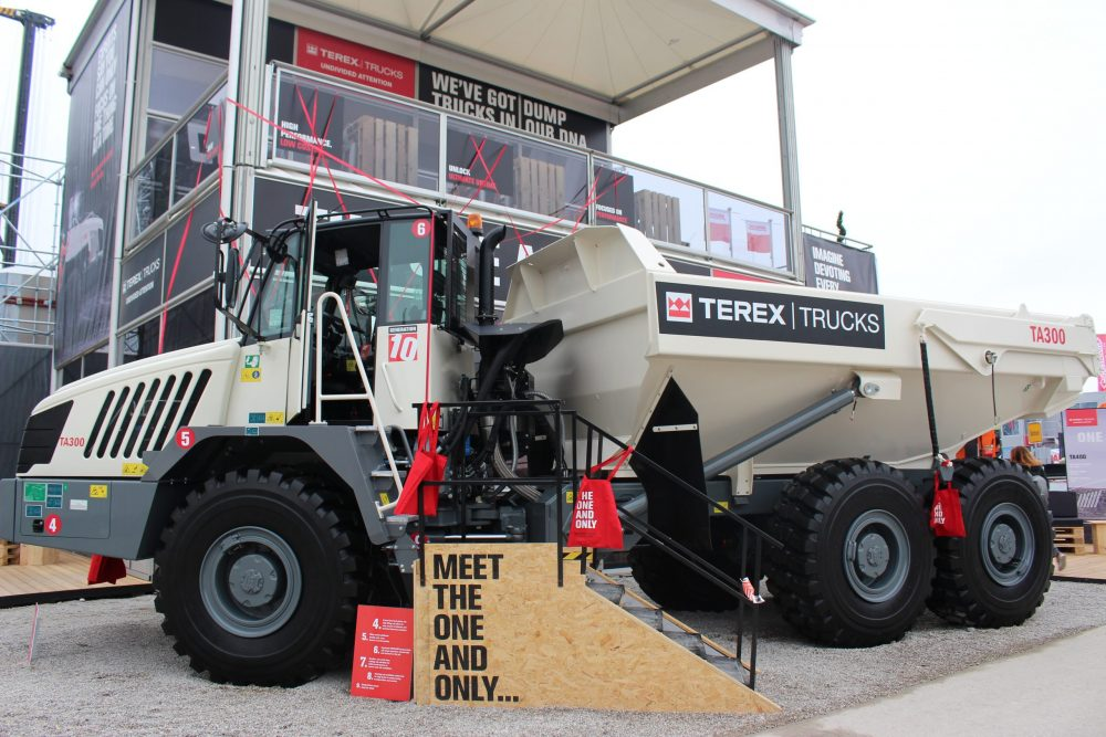 Terex Trucks showcasing TA300 and TA400 Articulated Haulers at CONEXPO