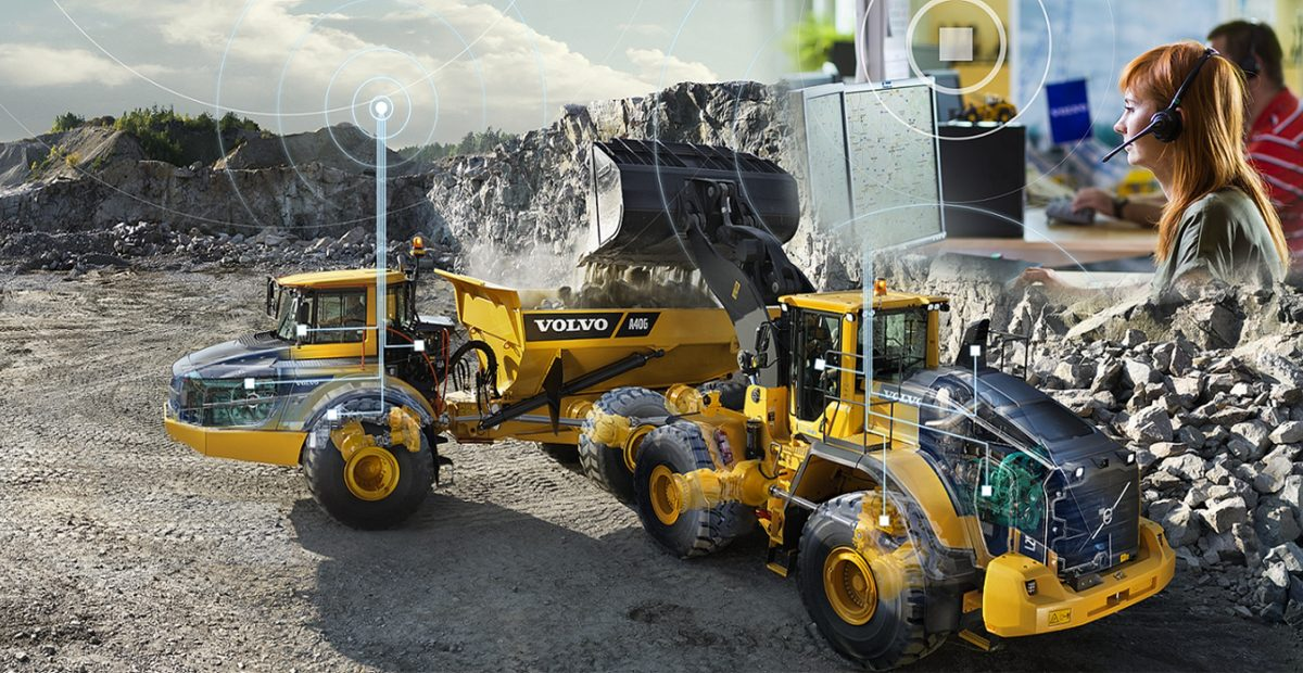 CareTrack and ACTIVE CARE services for Volvo Construction Equipment