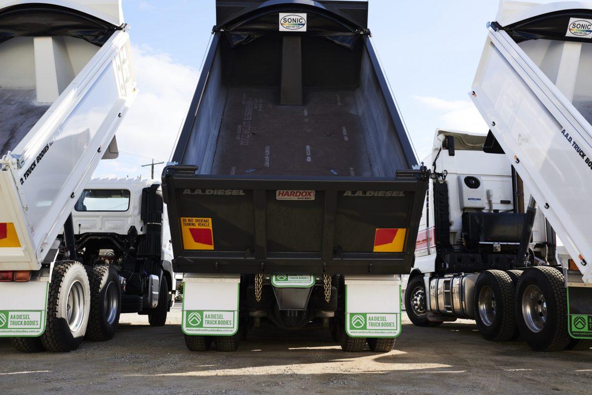AA Diesel Truck Bodies now with Hardox wear plating