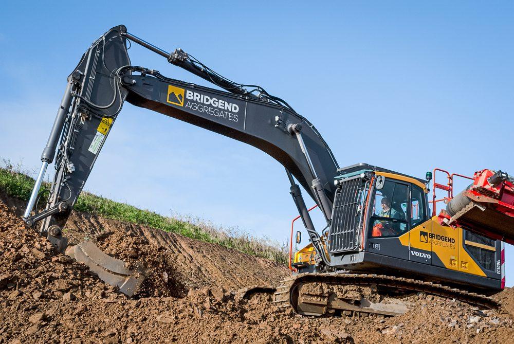 Bridgend Quarry upgrades with 30 tonne Volvo EC300E Excavator