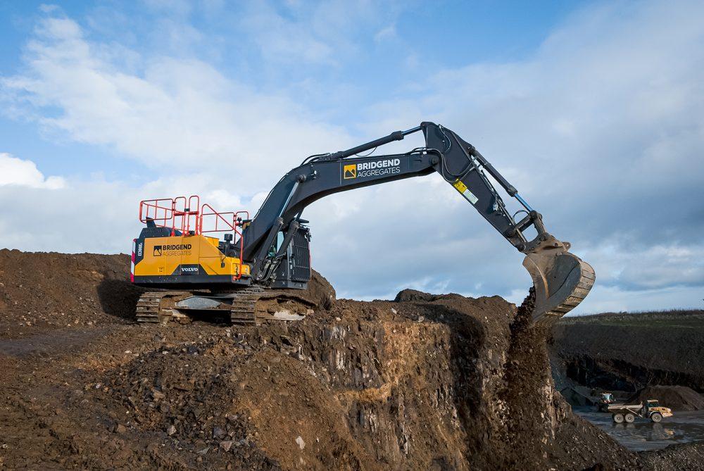 Bridgend Quarry upgrades with 30 tonne EC300E Excavator