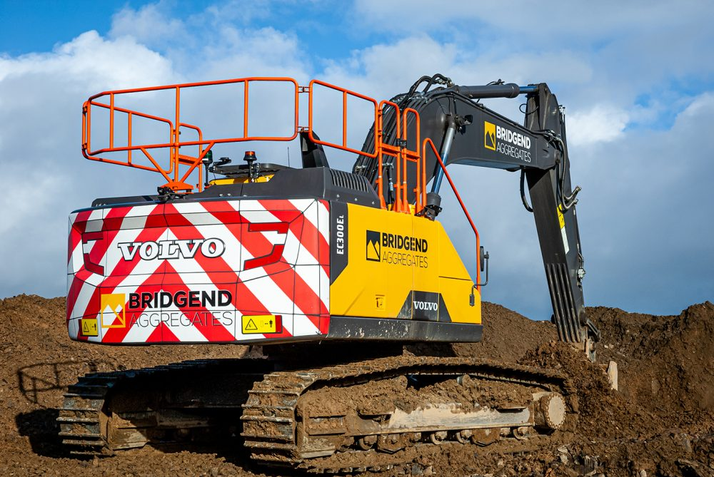 Bridgend Quarry upgrades with 30 tonne Volvo EC300E Excavator