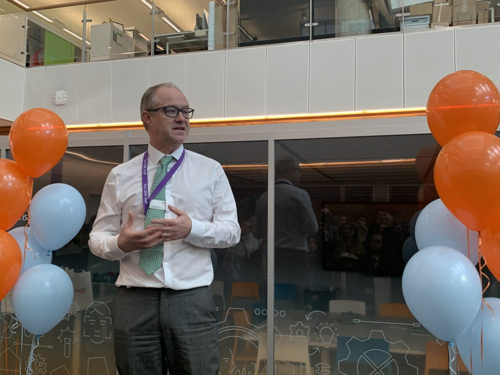 Network Rail chief executive Andrew Haines at the event