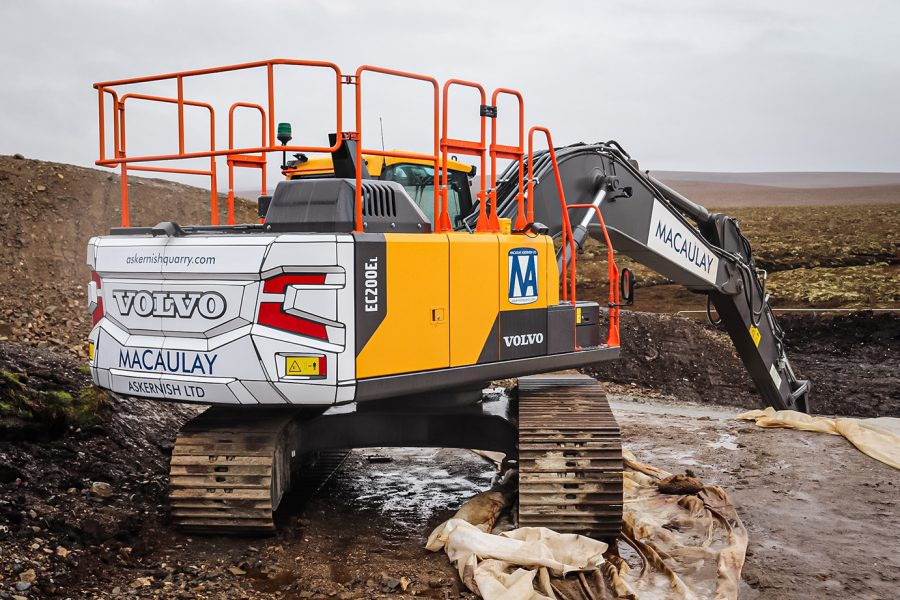 VolvoCE Excavators venture out to the Outer Hebrides