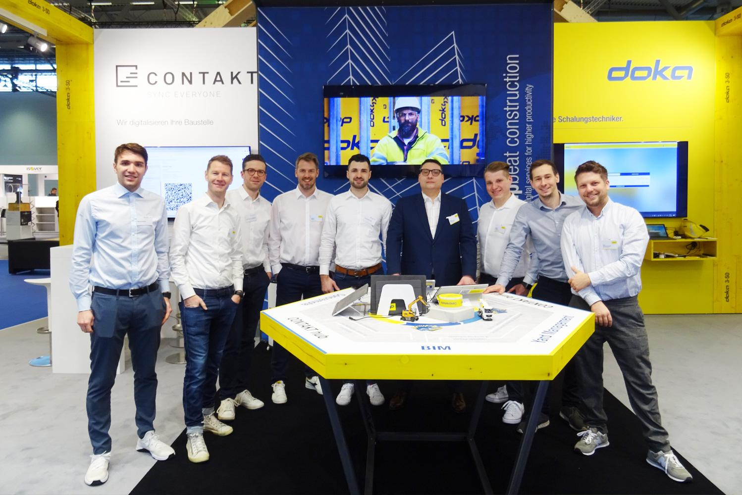 After three auspicious days at digitalBAU, the experts from Doka were able to draw a satisfying conclusion. Photo: digitalBAU_Doka.jpg, Copyright: Doka
