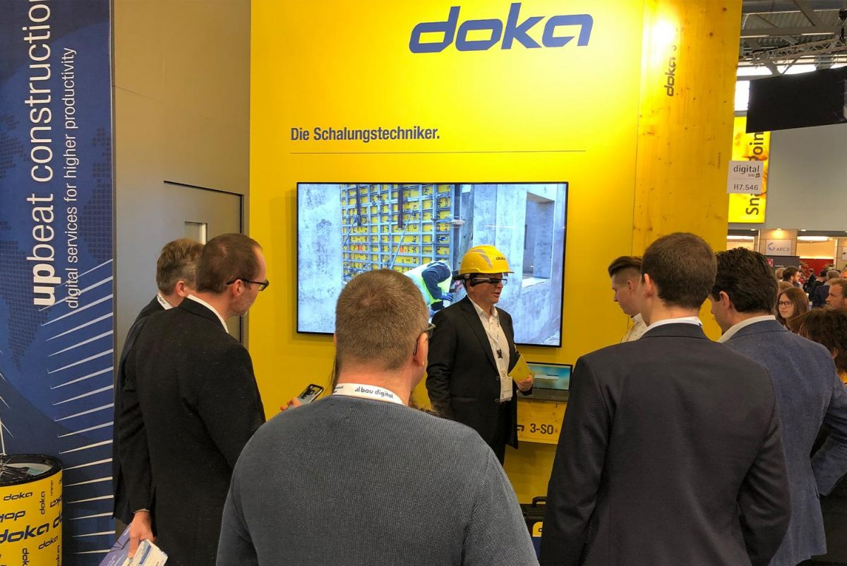 Doka showcased their digital services at digitalBAU