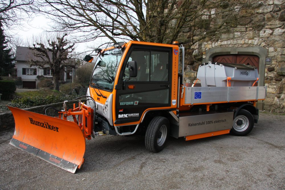 Electric MK-Reform Boki implement carrier takes to the streets in Switzerland