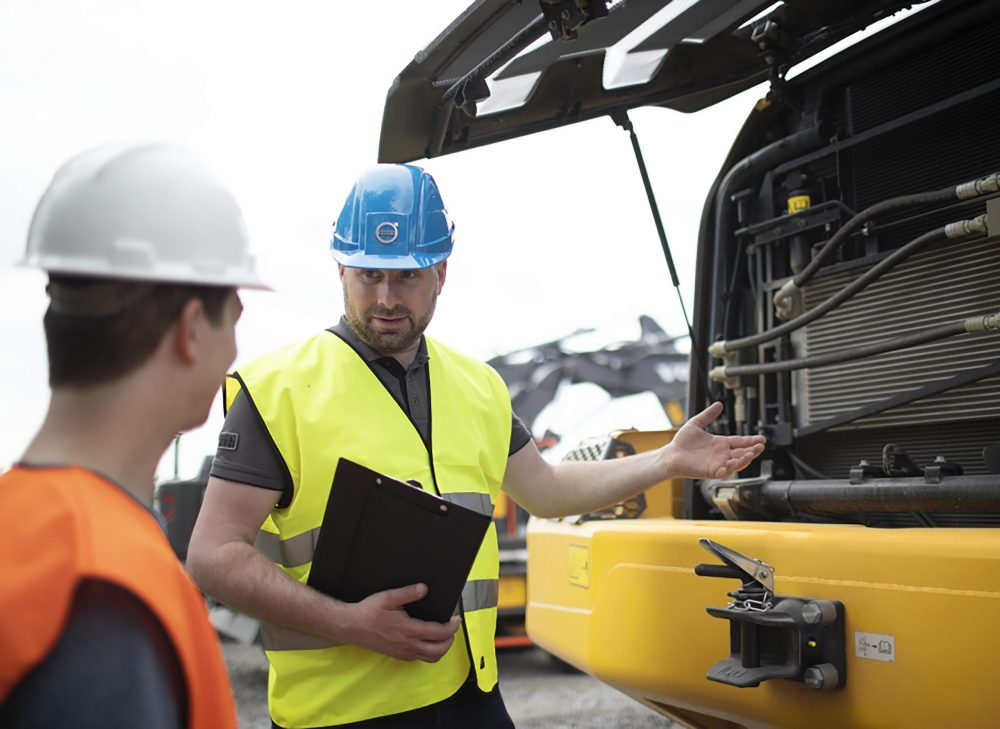 Johannes Nordgren, Application Engineer at VolvoCE EMEA Productivity & Efficiency Services Department.