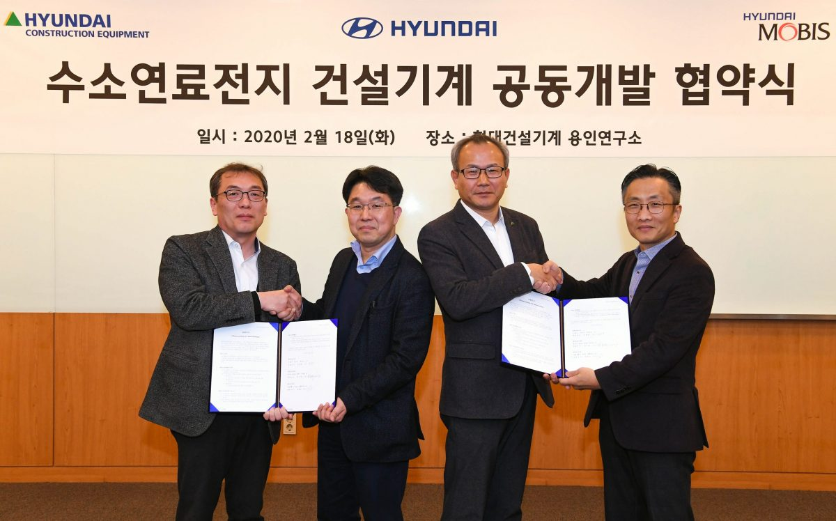 Hyundai Construction Equipment and Hyundai Motors developing Hydrogen Fuel Excavators