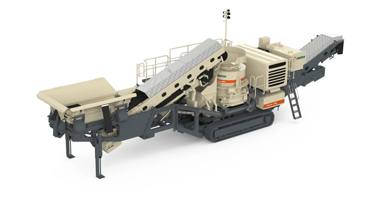 Special edition Metso Lokotrack LT4MX mobile cone crusher debuts at CONEXPO CONAGG