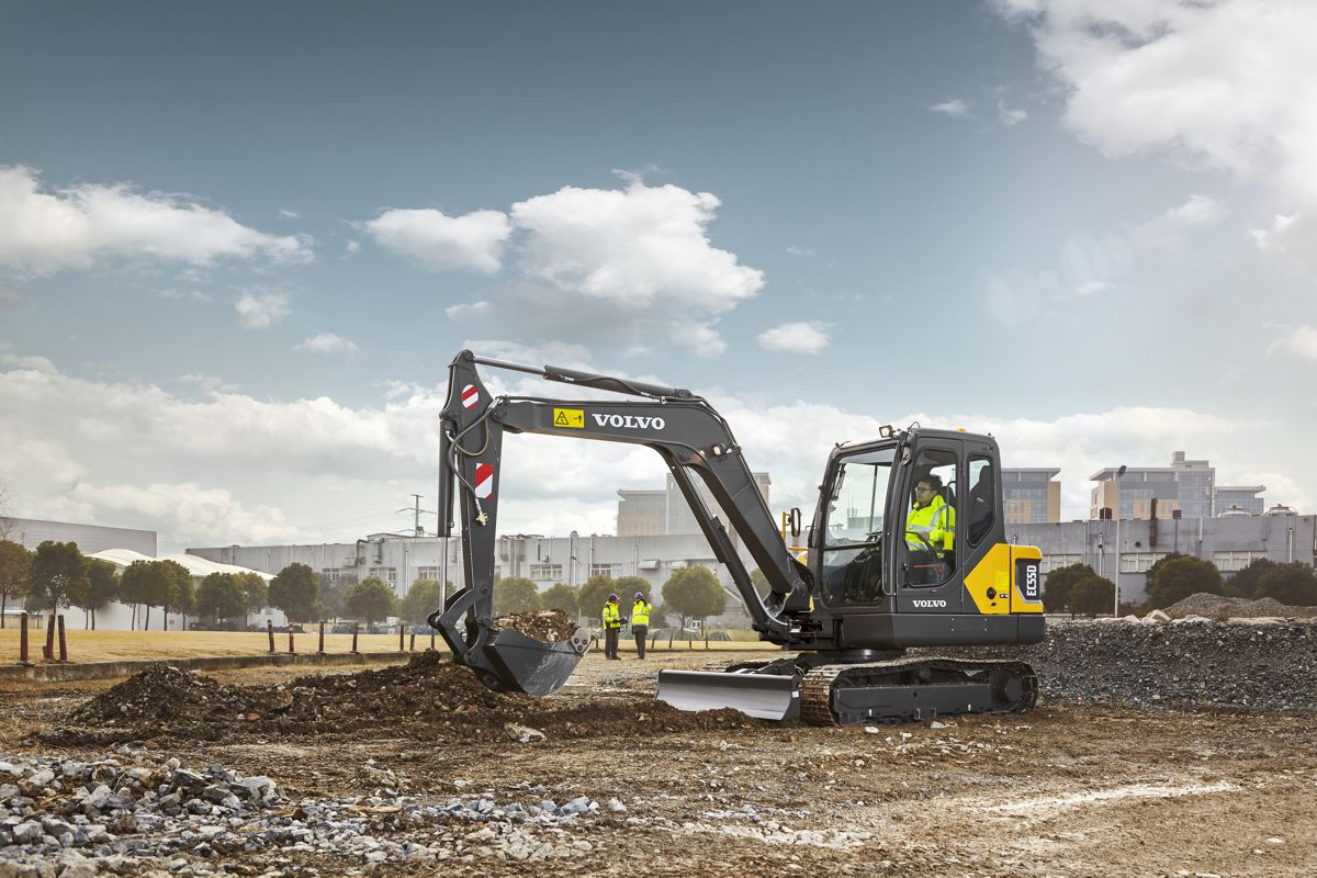 VolvoCE gives the EC55D Excavator more muscle for more hustle