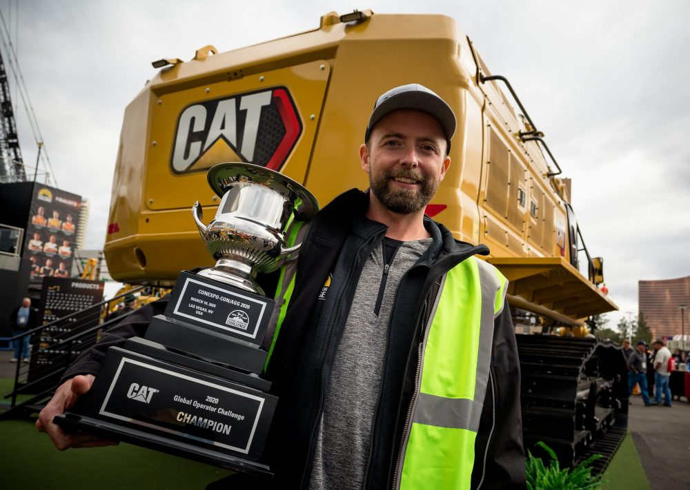 Jaus Neigum crowned Caterpillar Global Operator Challenge Champion at ConExpo 2020