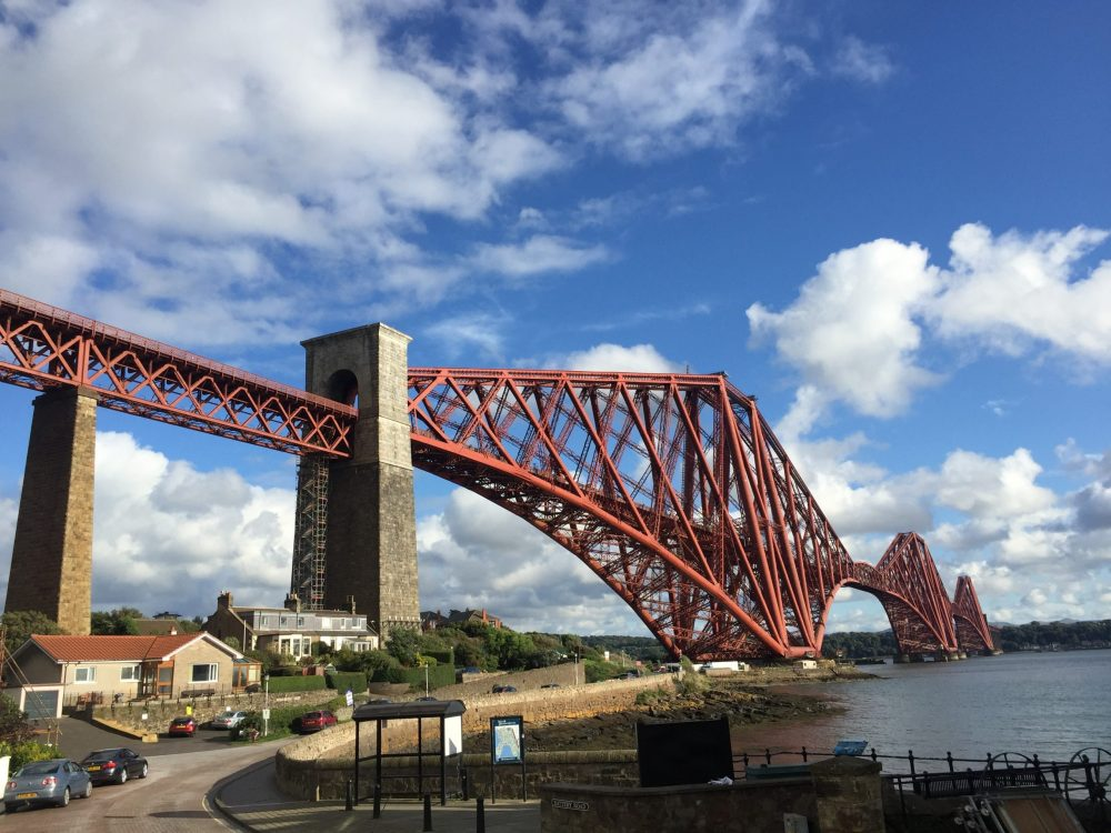 Forth Bridge, Edinburgh by day.