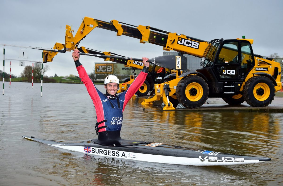 JCB sponsors British canoeist Adam Burgess as he paddles for Olympic gold