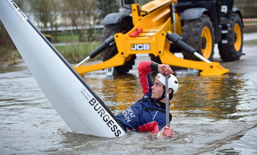 JCB sponsors British canoeist Adam Burgess as he paddles for Olympic gold