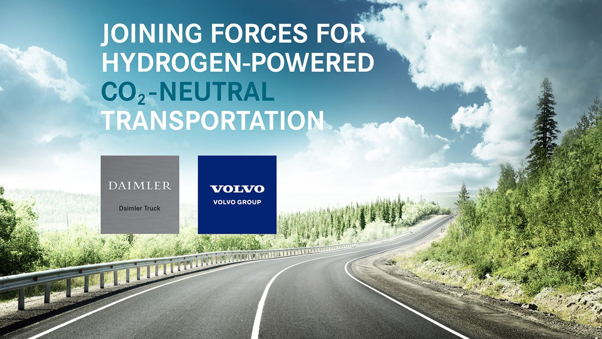Volvo and Daimler Trucks form joint venture for large-scale production of fuel cells