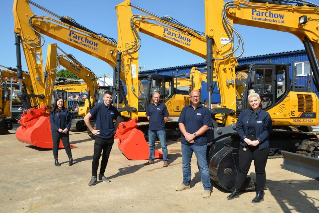 Portsmouth based Parchow Groundworks invest in twenty LiuGong Excavators