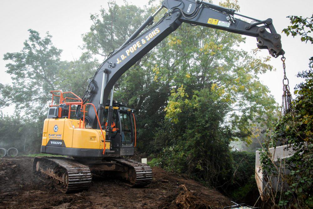 VolvoCE reduced swing Volvo Excavators a hit in Somerset