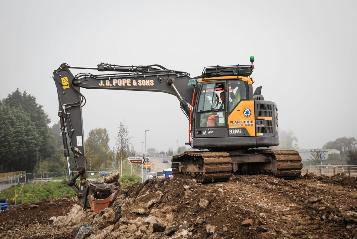 VolvoCE reduced swing Volvo Excavators a hit in Somerset