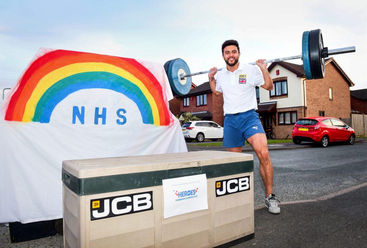 JCB sponsored athletes Ben and Adam smash NHS charity target with marathon effort