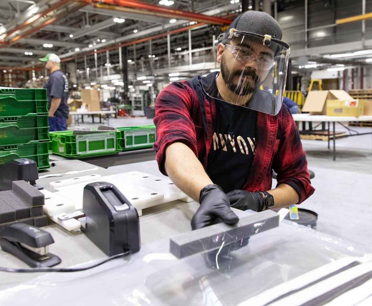 Deere begins production of Protective Face Shields for health-care workers