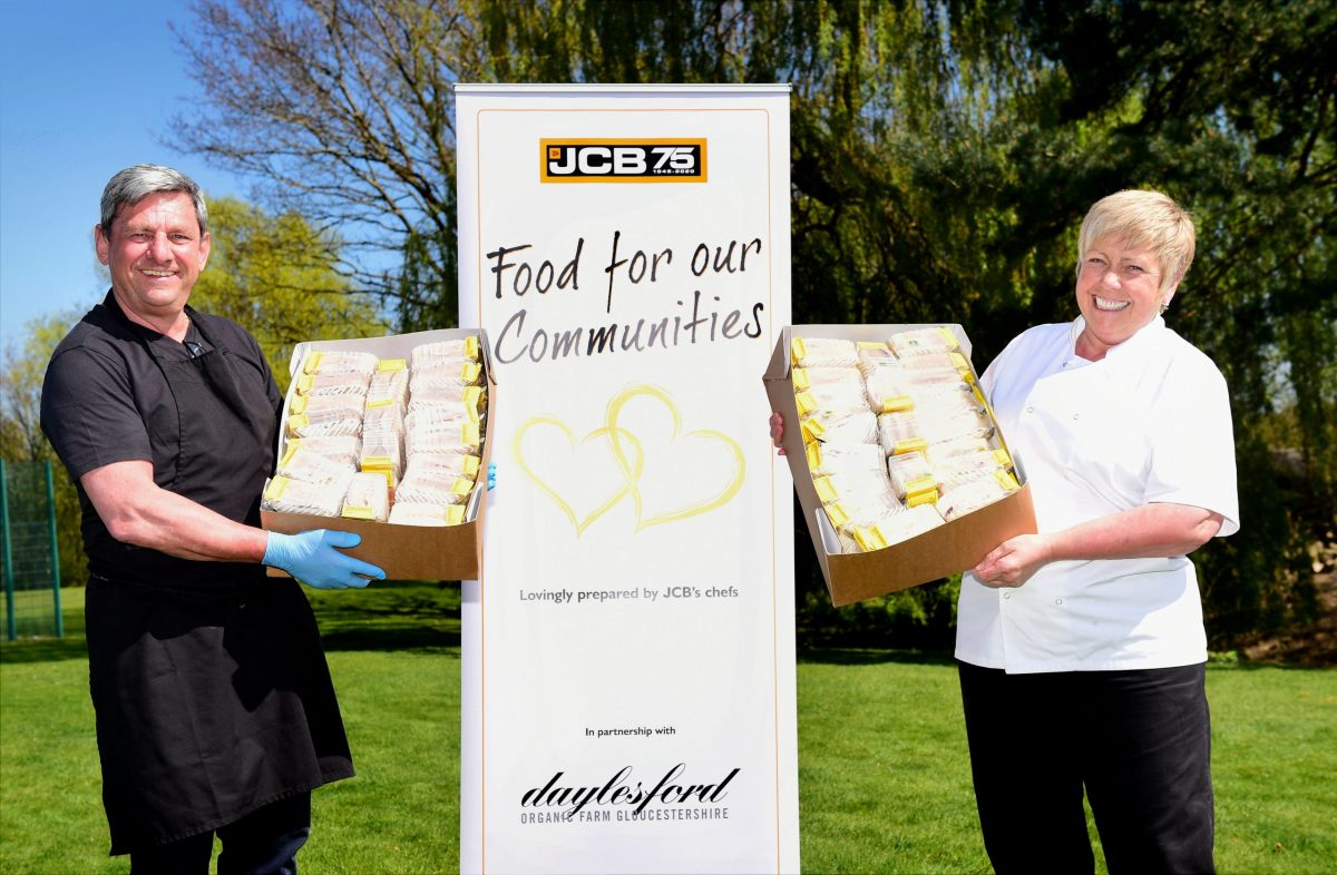 JCB steps up food aid programme for homeless people in North Staffordshire