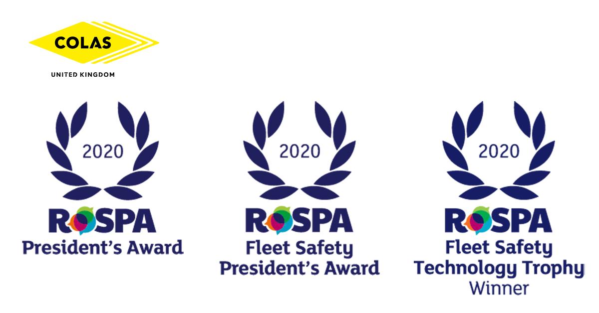 Colas wins three major RoSPA awards