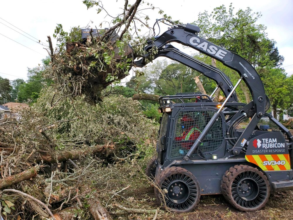 Team Rubicon Tornado Cleanup in Tennessee supported by Diamond Equipment