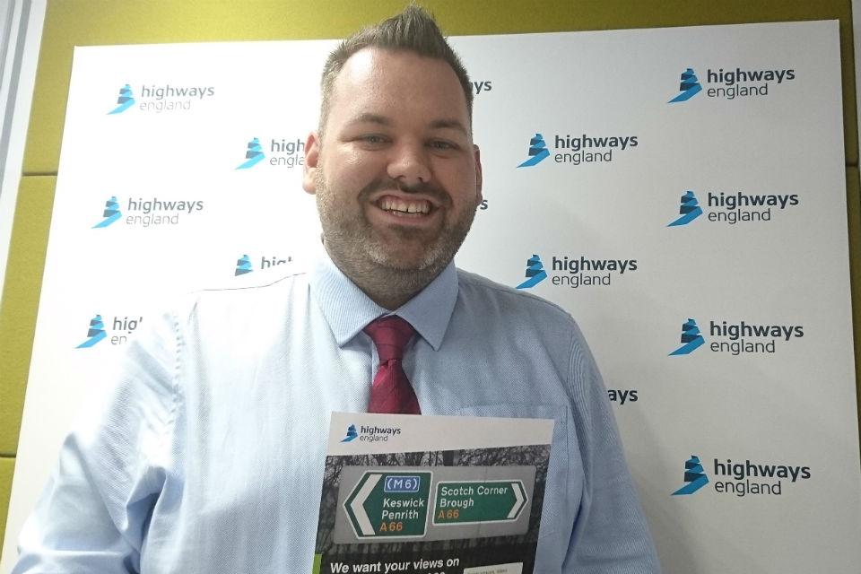 Highways England's senior project manager Matt Townsend