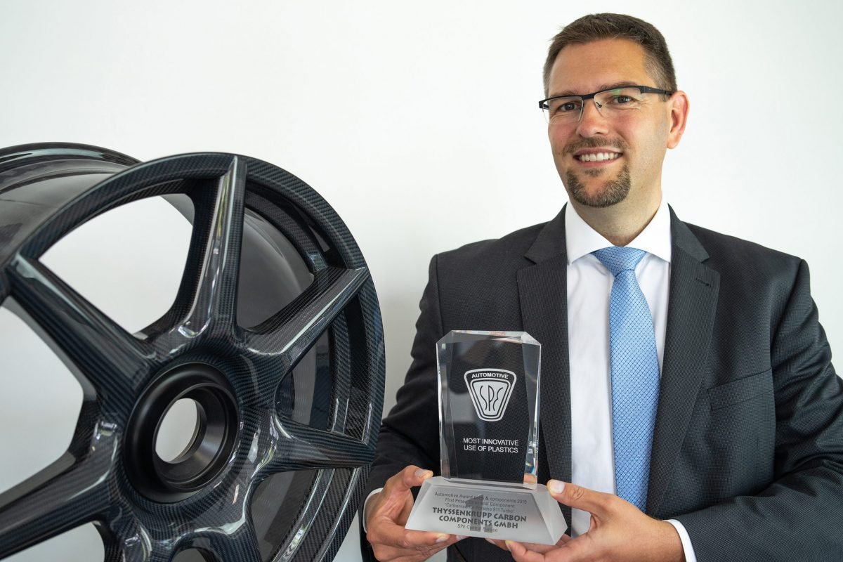 thyssenkrupp receives award for development and production of braided carbon wheels