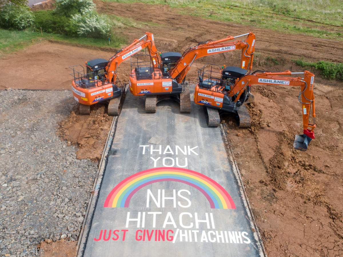 Help Hitachi Construction Machinery UK raise money for the NHS