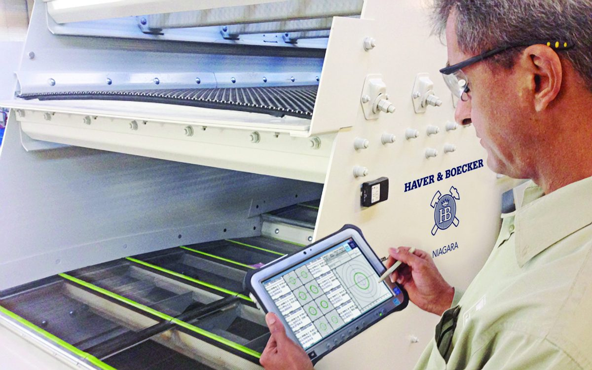Haver & Boecker Niagara's PROcheck, a processing analysis system, is designed to help customers maximize plant profit, productivity and proficiency. Image courtesy of Haver & Boecker
