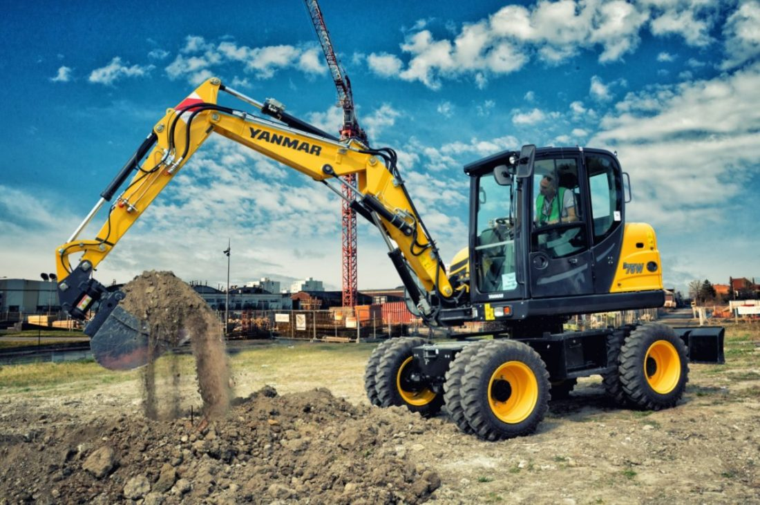 Yanmar launches the B75W-5 compact wheeled excavator