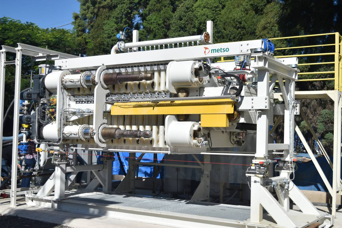 Metso starts full-scale testing of VPX filter for tailings dewatering in Brazil