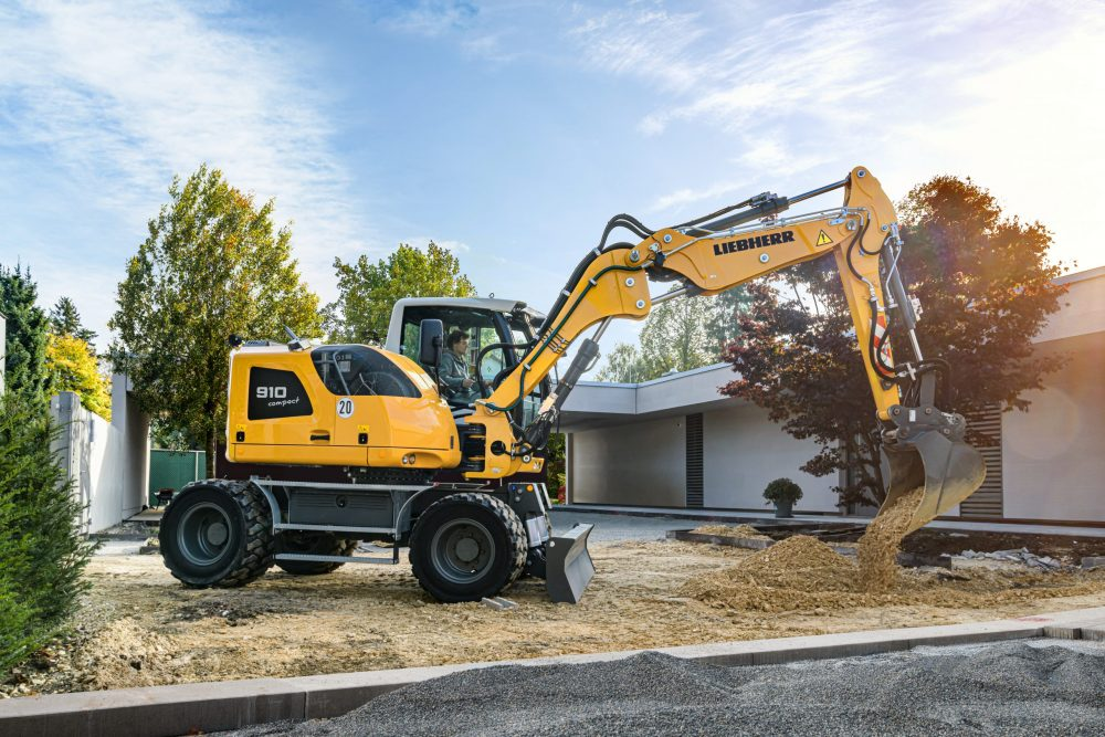 Liebherr's new Compact Wheeled Excavators feature Stage V exhaust emissions