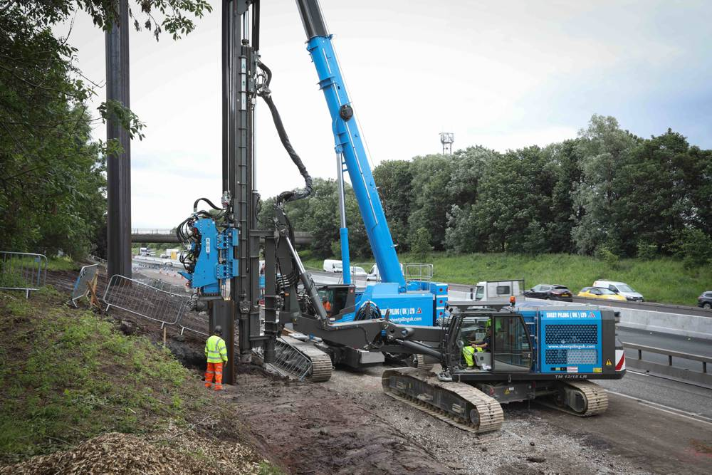 Innovative Sheet Piling installation could enable better Smart Motorway safety