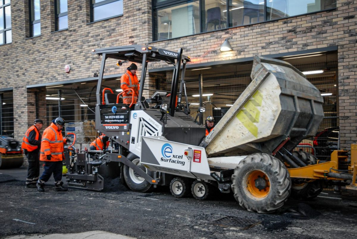 Excel Surfacing paves the way with a Volvo P2870D compact wheeled paver
