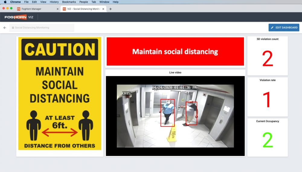 Monitor health and safety with FogHorn Edge AI and streaming video analytics