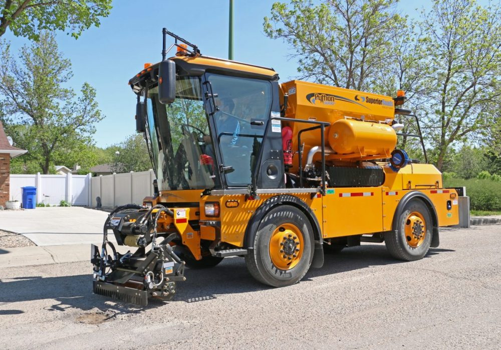 Python 5000+ Pothole Patcher heads for Denmark