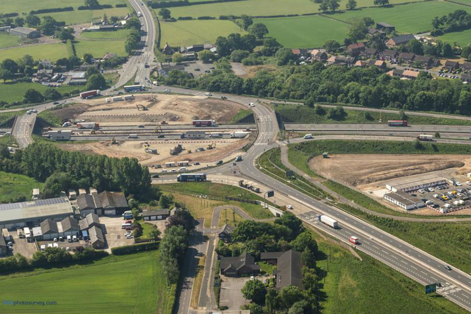 Highways England shows-off M6 £43m junction improvement in Cheshire