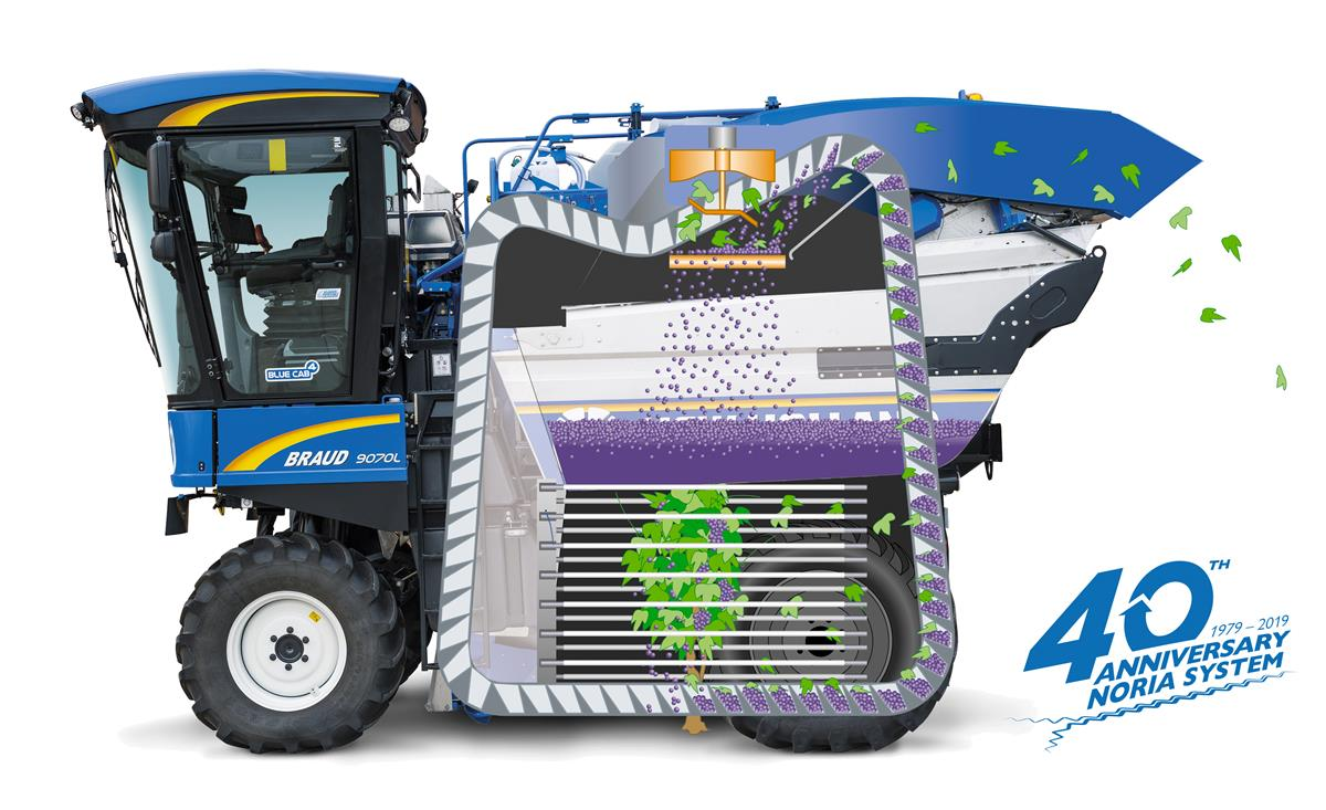 New Holland celebrates 40 years of the Noria basket system for Braud harvesters